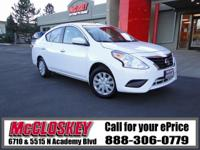 ONE OWNER & ONLY 11K Miles!! This 2016 Nissan Versa