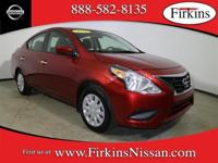 *NISSAN CERTIFIED*. Versa 1.6 SV, Nissan Certified, 4D