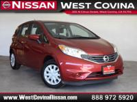 Clean CARFAX. Red 2016 Nissan Versa Note SV 4D