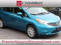 Clean CARFAX. Certified. Blue 2016 Nissan Versa Note