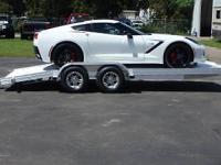 New Platinum Aluminum 18' open car hauler. 950#,