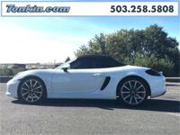 WOW!!! Check out this. 2016 Porsche Boxster White 2.7L