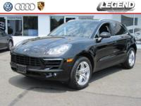 2016 Porsche Macan S Black 3.0L V6 CARFAX One-Owner.