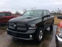 Black 2016 Ram 1500 Sport 4WD 8-Speed Automatic HEMI
