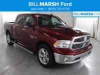 2016 Ram 1500 Big Horn 4WD, CLEAN CARFAX, ONE OWNER,