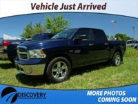Recent Arrival! Clean CARFAX. 2016 Ram 1500 Big Horn