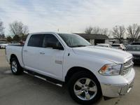 Ram 1500 Pearl White SLT 2016 ABS brakes, Compass,