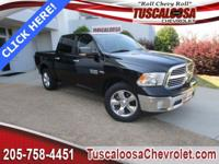 This 2016 Ram 1500 SLT in Black Forest Green Pearlcoat