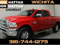 Flame Red Clearcoat 2016 Ram 2500 Laramie 4WD 6-Speed
