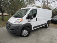 This 2016 Ram ProMaster 3dr 1500 Low Roof 136 WB