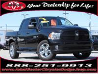 Options:  2016 Ram 1500 Express|Black|Lifetime Engine