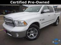 Options:  2016 Ram 1500 Laramie|White|Recent Arrival!