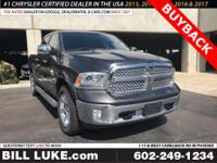 Options:  2016 Ram 1500 Laramie|Gray|Buyback!!!  Heated