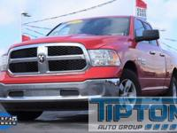 2016 Ram 1500 in Red exterior and Diesel Gray/Black