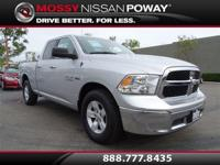 1500 SLT, RWD, Bright Silver Metallic Clearcoat, and