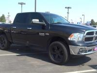 Brilliant Black Crystal Pearlcoat 2016 Ram 1500 SLT 4WD