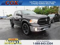 This 2016 Ram 1500 in Black is well equipped with: