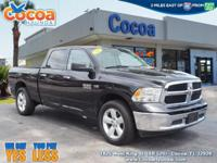This 2016 Ram 1500 SLT in Black features: 1500 SLT, 4D