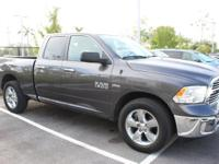 ONE-OWNER and CLEAN CARFAX. 1500 Big Horn, HEMI 5.7L V8