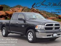 This 2016 Ram 1500 SLT comes with Gray cloth interior,