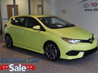 New Price! 2016 Green Scion iM CALL OUR FRIENDLY AND
