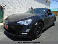 Clean CARFAX. Black 2016 Scion FR-S RWD 6-Speed Manual