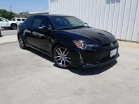 CARFAX One-Owner. Black 2016 Scion tC FWD 6-Speed