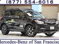 Clean CARFAX. Black 2016 Subaru Forester 2.0XT Premium