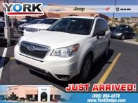 Clean CARFAX. White 2016 Subaru Forester 2.5i AWD