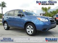 SUBARU CERTIFIED PRE-OWNED 2016 FORESTER 2.5i**CLEAN