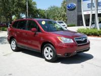 Options:  2016 Subaru Forester 2.5I Limited|Red|3.70