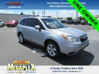 This 1 OWNER, 2016 Subaru Forester Premium is well