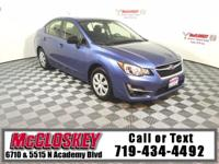 Pristine 2016 Subaru Impreza! All Wheel Drive with Back