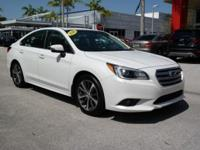 Options:  2016 Subaru Legacy 2.5I|White|Heated