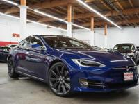 This 2016 Tesla Model S 90D features a 0.0 ELECTRIC
