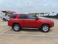 2016 Toyota 4Runner Red  Clean CARFAX. Odometer is 1262