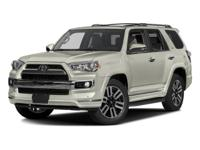 Super White 2016 Toyota 4Runner Limited RWD 5-Speed