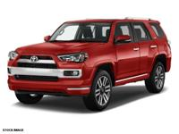 Options:  2016 Toyota 4Runner Limited|Red|20 X 7.5