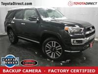 2016 Toyota 4runner Limited TOYOTA CERTIFIED!