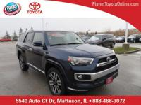 Recent Arrival! 2016 Toyota 4Runner Limited Blue 4WD,