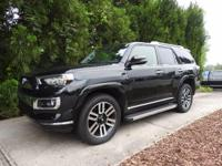 FULLY LOADED CERTIFIED 4X4 LIMITED 4 RUNNER. ONE OWNER,