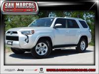 Options:  2016 Toyota 4Runner Sr5|Silver/|V6 4.0 L