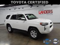 Toyota Certified. SR5 4wd, Alloy wheels, Exterior
