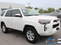 ONE-OWNER and CLEAN CARFAX. 4Runner SR5, 4WD, White,