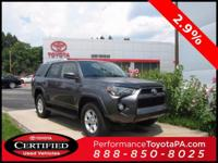 2016 Toyota 4Runner Certified. CARFAX One-Owner.