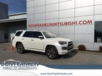 2016 Toyota 4WD 4Runner SR5 White 5-Speed Automatic