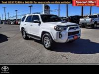 CARFAX 1-Owner, Toyota Certified. Trail trim. Back-Up