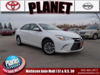 2016 Toyota Camry LE White Gray, ABS brakes, Electronic