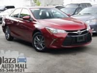 Certified. 2016 Toyota Camry SE Ruby Flare Pearl CARFAX