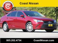 CARFAX One-Owner. Red 2016 Toyota Camry LE FWD 6-Speed